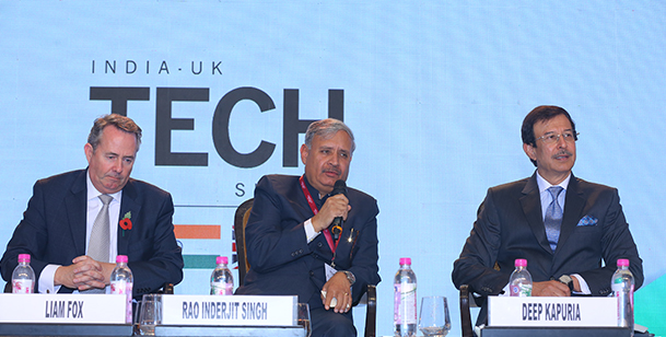 Mr. Deep Kapuria, Board Member GITA and Chairman of The Hi-Tech Group speaking at India UK TECH  Summit.