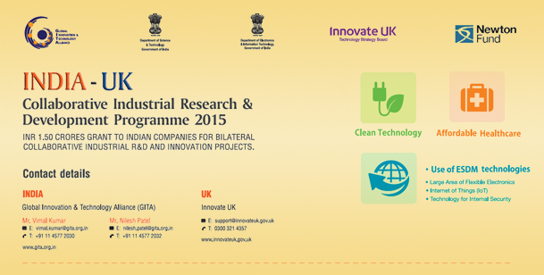 India-UK Collaborative Industrial Innovation R&D Programme 2015
